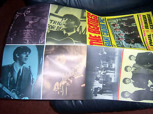 THE BEATLES EARLY 1964 GIANT FOLDING  POSTER PYX ORIGINAL GENUINE AWESOME  MINT