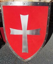 Vintage Medieval Knight Shield Handmade Steel / Iron Large Hand Crafted Custom