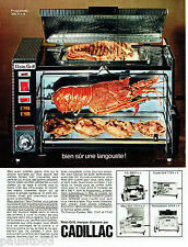 PUBLICITE ADVERTISING 1016  1967  le  roto-grill programatic Cadillac