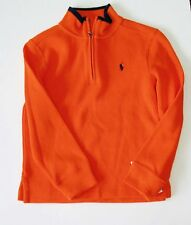 Ralph Lauren Boys Half Zip Long Sleeve Sweater Sailing Orange Sz 5 - NWT