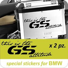 2 Adesivi Stickers moto This is the GS attitude R 1200 GS 1150 1100 800 650 BMW