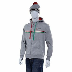 Sidi Casuals Hoodie Hooded Top - Grey JACKET TRACK PADDOCK MOTORCYCLE CYCLING
