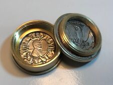 US Penny Morgan Dollar Coin Pill Box - Snuff Box - Stash Box - Canadian Made