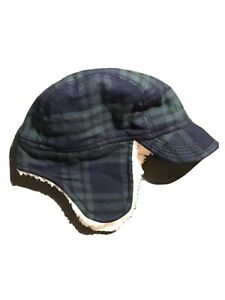 Baby Gap Baby Plaid Trapper Hat Boys Size 0-6 Months