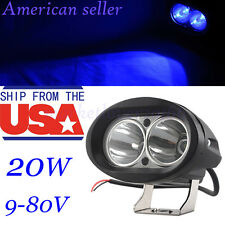 20W LED Forklift Truck Blue Warning Lamp Safety Working Spot Light 10-80V IP68
