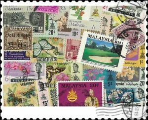 Malaysia Selangor : 50 Different Stamps Mixture