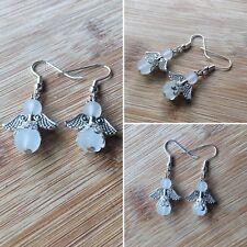Womens Handmade Frosted Clear Angel Wing Halo Drop/Dangle Earrings Jewelery Gift