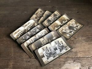 10 Stereoscope View Cards American Stereoscope Co. c1900.