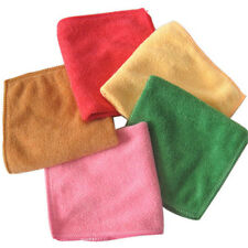 10pcs Solid Microfiber Face Towel Cleaning Wash Cloth Hand Square Towel Hot Sale
