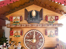 Cuckoo Clock Swiss house,Quartz,458Q Hand made in Germany Original Black Forest!