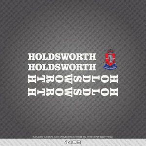 01408 Holdsworth Bicycle Stickers - Decals - Transfers - White