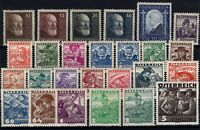 P130297/ AUSTRIA STAMPS / LOT 1928 - 1936 MINT MH CV 200 $