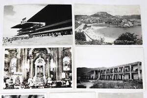 13 1940s REAL Photo Postcards/RPPC/Various Mexico/Acapulco/Mexico City/Guaymas