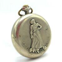 Russian MOLNIJA Ural Tale Cupronickel Vintage Pocket Watch Mechanical 3602 USSR