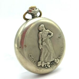Russian MOLNIJA Ural Tale Cupronickel Vintage Pocket Watch Mechanical 3602 USSR