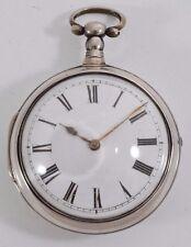 English Verge Fusee Silver Pair Cased Pocket Watch James Upjohn, London c.1790