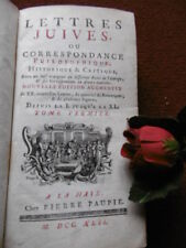 LETTRES JUIVES  ( TOME 1° ) 1742
