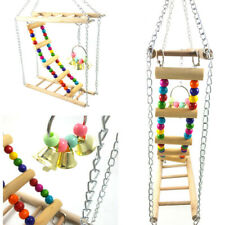 Playground Parrot Ladder Pet Bird Wooden Climbing Swing Chew Budgie Cage Toys
