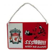 Liverpool Fc Bedroom Sign Mascot Red & White Mighty Red Sleeping Football New