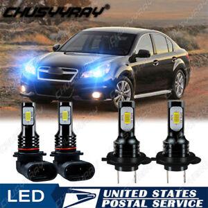 For Subaru Legacy 2005-2014 Comb Kit 9005 H7 LED Headlight High Low Beam 8000K