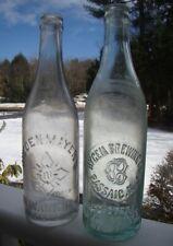 Pair of Antique 1890's NEWARK & PASSAIC NEW JERSEY Tooled Beer Bottles