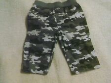 BOYS GARANIMALS 3-6 MONTHS BLACK/GRAY CAMO PRINT PANTS