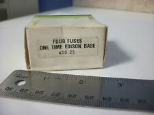 General Electric GE25A Edison Base Fuses, 125 volt, 25 amp, Box of 4