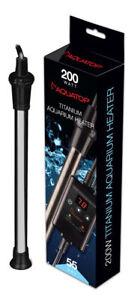 Aquatop Submersible Titanium Heater & External Thermostat 200watt Free Shipping