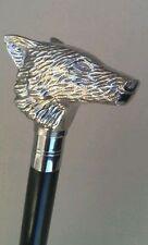 Stile classico in legno bastone da passeggio cane FOX FACCIA MANIGLIA Nickle finitura