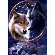 Full Drill DIY 5D Wolf Dream Catcher Diamond Painting Home Decor Embroidery Kits