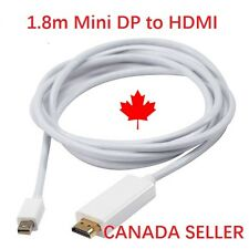 New 1.8M Mini DP To HDMI Thunderbolt Cable Adapter for Apple Mac MacBook Air Pro