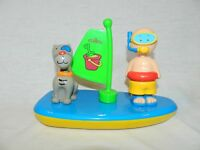 """CAILLOU Sailboat Bath Toy & Gilbert Cat 5"""" Figures Toy water play boat"""