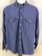 Roper Men's Western Long Sleeve Shirt Blue - XL