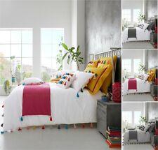 Luxuries NEW VICTORIA TASSELS Pom Pom Duvet Quilt Cover + PillowCase Bedding Set