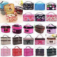 Travel Makeup Cosmetic Bag Multifunction Purse Box Toiletry Wash Case Organizer