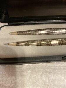 Parker 75 Classic  Set Sterling Silver Ballpoint Pen &  0.5mm Pencil New In Box