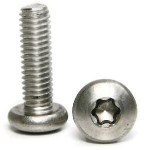 "Stainless Steel Torx Pan Head Machine Screw 1/4-20 x 3/4"" Qty-100"