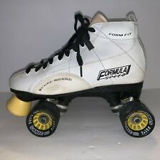 Formula Speed Roller Skates Womens Size 8 White Good Used Condition See Pics