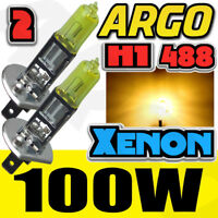 H1 100W SUPER YELLOW HALOGEN HID UPGRADE HIGH MAIN FULL BEAM HEADLIGHT BULBS