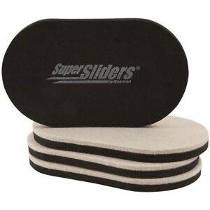 "Super Sliders 4 PCS REUSABLE FURNITURE SLIDERS 3-1/2"" x 6"" for HARD FLOOR HighQu"