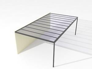 Grey/Clear/Opal SolaGlaze Roofing Aluminum Pergolas/Carports 3m-5m wide