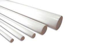"Teflon 1 3//4/""  Diameter x 48/"" Length Ptfe Virgin Plastic Rod Bar 1.75/"""