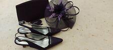Jacques Vert Zapatos Fascinator de la Bolsa Púrpura Oscuro Talla 4/37 Boda sistema que empareja