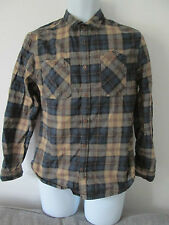 River Island -  Brown checked button down collar L/SLEEVED CASUAL SHIRT SIZE M