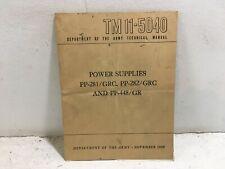 Tm 11-5040. Power Supplies, Pp-281/Grc, Pp-282/Grc, Pp-448/Gr. 1950