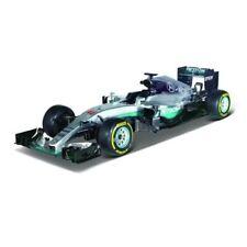 Coche de Fórmula 1 de automodelismo y aeromodelismo color principal plata escala 1:43
