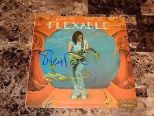 Steve Vai Rare Hand Signed Flex-Able Vinyl LP Record COA Photo David Lee Roth