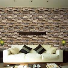 45x100cm Self Adhesive Wall paper PVC Waterproof Stone Brick Wall Stickers E