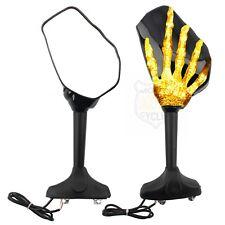 Black Rearview Mirrors Skull Skeleton Hand Side Mirror For Honda CBR1000RR 600RR