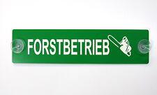 Forstbetrieb,Gravur,Schild,20 x 5 cm,Kunststoff,2 Sauger,Jäger,Wald,Wetterfest